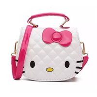 Wholesale Child Bags - Christmas Gift Kids Purse Cat Children Cartoon PU leather Bag Crossbody Single Shoulder Bag Handbag Baby Mini Bag Cute Design
