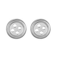 925 steril gümüş düğme toptan satış-5 çift / grup Toptan Sevimli 925 Gümüş Saplama Küpe Kadınlar Takı Yuvarlak Daire Düğme Küpe Pendientes Plata Brincos