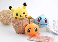 Wholesale Cellphone Plush - 2017 Pikachu Squirtle Bulbasaur Poke plush toy accessories ornament decorations cellphone mobile phone decorations toys free shipping