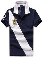 Wholesale Online Clubs - Online Fashion American polo shirt Big Horse Print men polos hombre cotton comfortable casual & business Club polo shirts M-XXL