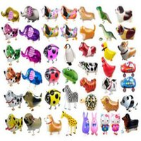 Wholesale toys walker resale online - Balloons Party Decoration Walking Pet Helium Balloon Animal Pets Air Walker Foil Aluminum Birthday Party Toys Children Foil Toys Zoo Pets