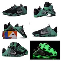 (Con scatola per scarpe) Kobe 11 XI Elite Low AS All-Star Nero Verde Glow Fade 822521-305 Uomo Sneakers da basket Sport Scarpe