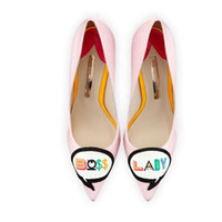 süße high heels großhandel-dame Neue Schuhe Frau Spitzschuh Pumps Slip auf Flach Ultra High Heels Nette Stickerei Boss Lady Schuhe Zapatos Mujer