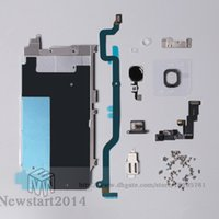 Wholesale Display Iphone Home - Free by DHL Or EMS For iphone 6 Full LCD Display Repair Parts Front Camera Earpiece Speaker Plate home button flex cable
