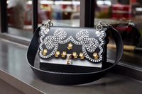 Wholesale Original Leather Handbags - Original Quality Genuine Leather Women Handbags Dress Style Luxury Black Women Shoulder Bag Brand Designer Bags F01080D6095-3