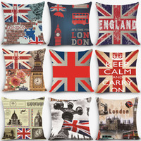 Großhandel-1pc Euro-Stil billige Kissen England London Print Dekorative Kissen Throw Pillow 18