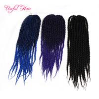 Wholesale Christmas Hair Bundles - long hair crochet hooks gift Christmas lowest price 3D Cubic Twist Crochet Braids Hair Ombre braiding hair Box Braids braided in bundles