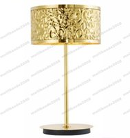 Wholesale Led Stainless Table Lamps - Modern Table Lamp Creative Art Mirror Gold Stainless Steel Wave Table Lamp Living Room Hotel Project Lamp Office Bedside Table Light MYY