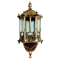 Wholesale European Led Outdoor Wall Lamp - Bronze antique brass IP65 luxary American European outdoor sconce vintage classical waterproof wall light outdoor wall lamp Wall Lantern