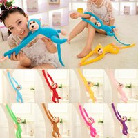 Wholesale toy monkey long arms online - Decompression toy cm inches Long Arm Hanging Monkey Plush toys cartoon Monkey Stuffed Animals for baby Christmas gift C2880