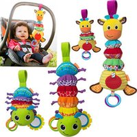 Wholesale Infant Toy Mobile - Wholesale- 1pc Baby Gift Hot Sale New Infant Toys Mobile Baby Plush Toy Bed Wind Chimes Rattles Bell Toy Stroller for Newborn