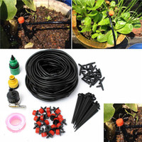 Wholesale Garden Greenhouses - 10m 15 Drip Nozzles DIY For Garden Watering Sprinklers Plants Irrigator Dripper Hose Kits Greenhouse Drip Irrigation System