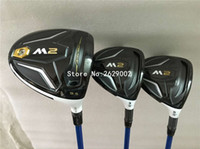 Wholesale Wood Set Golf Club - New M2 golf driver m2 fairway woods with graphite shafts high quality headcovers golf clubs set 9.5 10.5loft R S flex