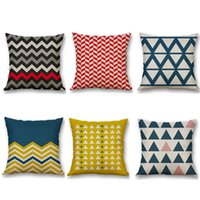 Wholesale Biodawn Cotton Linen Home Decoration Decorative Throw Pillow Case Pillowcase Car Sofa Cushion Covers Geometry cm x cm