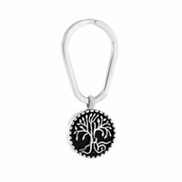 Wholesale Memorial Life - Tree of Life Animal Pet Puppy Palm Paw Mark Print Urn For Ashes Stainless Steel Cremation Jewelry Key Rings Memorial Jewelry Hot Sale