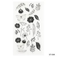 Wholesale Flowers Transparent Rubber Stamp Finished Transparent Chapter for DIY Scrapbooking Photo Card