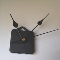 eje de calidad al por mayor-DIY Reloj Movimiento Kit de cuarzo Accesorios de reloj negro Mecanismo del husillo Reparación con conjuntos de manos Longitud del eje 13 La mejor calidad