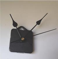 kuvars saat hareketi seti iş mili toptan satış-DIY Saat Hareketi Kuvars Kiti Siyah Saat Aksesuarları Mili Mekanizması Tamir El Setleri ile Mili Uzunluğu 13 En Kaliteli