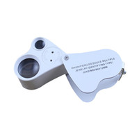 Wholesale magnifier jeweler jewelry eye loupe resale online - 2in1 Hand Eye Jewelry LED Loupe Magnifier LED Double Multiple Jewelry Identifying Type x22mm x12mm Magnifier Jeweler Lens