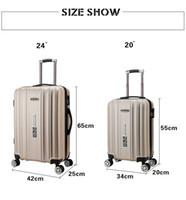 Wholesale Suitcase Board - Wholesale ABS+PC 360 degree full brand new business luggage suitcase flight boarding