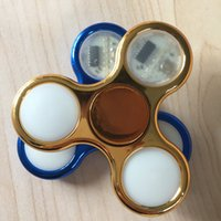 Electroplate Couleur Golden Blue Fidget Spinner 20 Types LED montre décompression Finger Spinner Toy Timekiller BEY066E