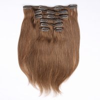 Wholesale hair extensions curtain buy cheap hair extensions wholesale jufa straight clip in human hair extensions light brown set remy unprocessed peruvian virgin clip pmusecretfo Choice Image