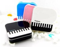 Wholesale Cheap Tweezers - Simple Plastic Cheap Contact Lens Case Cartoon Piano Smile CuteContact Lens Box With Tweezers