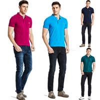 Wholesale Polo Shirt Cool - Higth quality men clothing camisa polo masculino 2017 cool polos manga corta teesmens polo shirts brandedshort sleeve top summer