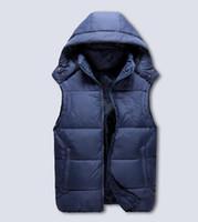 Wholesale plus size down quilted jackets resale online - Men s PoLo cotton wool collar hooded down vests sleeveless jackets plus size quilted vests Men PAUL vest vests outerwear M XXL