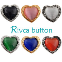 Wholesale Crystal Snake Rings - D01023 Rivca Snap Button charms Jewelry High quality crystal 18mm Metal Noosa chunk Rhinestone Styles Ginger Snaps Bracelets For Women