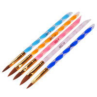 ingrosso set di asta della penna-5 pz / set Nail Art Acrilico penna liquido in polvere strumento intaglio pennello penna Crystal Rod Phototherapy Pen