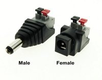dc jack power laptop novo venda por atacado-NOVO DC Masculino Feminino conector 2.1 * 5.5mm DC Power Jack Plug Adapter Conector para cor única levou tira