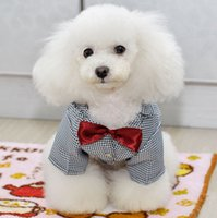 Wholesale Dogs Clothing Dress - Top Pet Dog Cat Puppy clothes dog apparel Full dress Suit marry Bow fashion Wedding banquet Free shipping wholesale 4-316