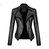 girls motorcycle jackets 2018 - Wholesale- 2017 New Motorcycle Leather Jacket Women Leather Coat Outerwear Spring Ladies Jackets Coats Girl Jacket Coat