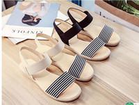 Wholesale Shoes For Pregnant - Sale Sandals Women Summer Slip On Shoes Peep-toe Flat Shoes Roman Sandals Anti Slip Soft Bottom Sandals For Pregnant Women