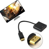 Wholesale highest quality laptop for sale - Group buy High Quality Displayport DP to HDMI Adapter Cable DP Displayport Male To HDMI Female Converter Adapter Cable For PC Laptop DHL CAB209