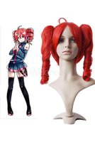 Wholesale Vocaloid Teto Wig - Free Shipping>>Vocaloid Kasane Teto Heat Resistant fiber short Cosplay Wig two Ponytail