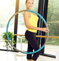 Wholesale Hula Hoops Weights - Adult Additional weight Hula hoop Women Slimming Massage Hula Hoops Portable Removable Joggled Equipment Home Fitness Plastic Abdominal trai