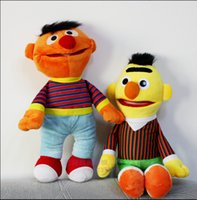 Wholesale Bert Ernie Plush - 2pcs lot Cartoon Plush Toys Sesame Street Ernie And Bert Super Quality Hot Selling Creative Doll Stuffed Toy
