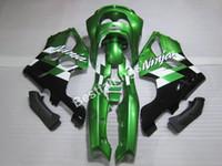kit de carenado kawasaki zx6r 1997 verde al por mayor-Kit de carenado personalizado gratis para Kawasaki Ninja ZX6R 1994-1997 carenados negro verde set ZX6R 94 95 96 97 OT21