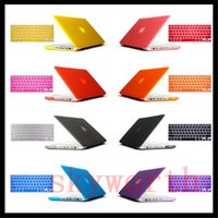 Clear Crystal Front + Voltar Full Body Hard Case Cover + Silicone Keyboard Protector para Macbook Pro 13,3