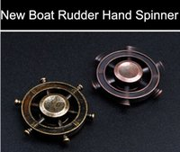 Wholesale classic steering wheel - 2017 New Boat Rudder Hand Spinner Edc Decompression Toy Helmsman Fidget Spinner Steering Wheel Design Fidget Toy Classic Style