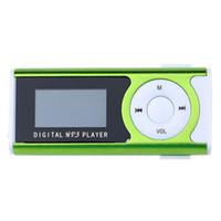 Wholesale Portable Mini Media Speaker - Wholesale- Portable Shiny Mini USB LCD Screen Sport MP3 Media Player Support 16GB Micro SD Card Sports MP3 Music Player MP3 WMA