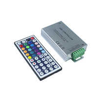 Wholesale 24 key ir controller - RGB LED Controller with 24 44 keys IR Remote Controller for SMD5050 3528 RGB Led Strip Light DC12V~24V 12A 144W 24A 288W