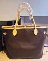 Wholesale Brown Canvas Purse - High quality women leather handbags designer bag brand shoulder bag luxury classic letter checker women bag fashion femal tote vintage purse