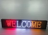 ingrosso tavole da carteggio all'aperto-Vendita calda Grafica Semi-outdoor p10 Led Sign Moving Board Display programmabile 100cmX20cm rosso / bianco / giallo colore