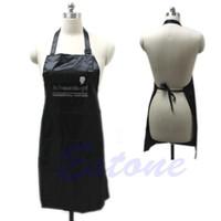 Wholesale Salon Aprons Wholesale - Adjustable Black Bib Apron Uniform With 2 Pockets Hairdresser Salon Hair Tool