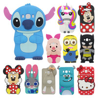 Wholesale Galaxy Core Duos Cover - For Samsung Galaxy Grand Prime Core Grand Duos Case Lovely Cute 3D Cartoon Soft Silicon Covers A3 A5 A7 2016 J1 J3 J5 J7 2016 Phone Cases