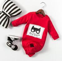 bebek batman kıyafetleri toptan satış-Yeni Bahar Sonbahar Bebek Bebek Karikatür Batman Tulum Uzun Kollu Çocuk Tulumları Giysileri Tırmanmaya Çocuk Erkek Kız Pamuk Tulum W026