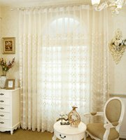 Wholesale Living Room Curtains Sale - Baroque-style luxury gauze curtains The new pattern water-soluble embroidered shade sheer curtains living room sitting room HOT SALE 2017